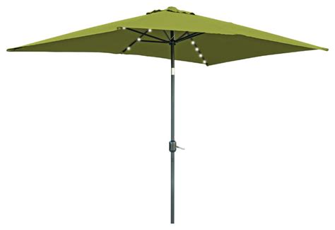 Patio Umbrella With Solar Led Lights Rectangular Solar Powered Led Lighted Patio Umbrella 10 X6 5 Outdoor Umbrellas By