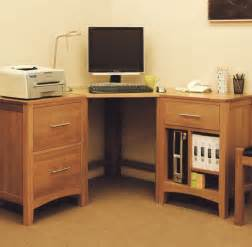 Small Oak Corner Desk Hereford Oak Corner Desk Oak Furniture Solutions