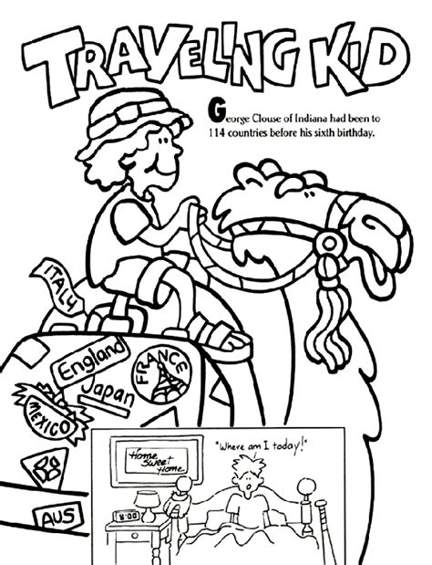 traveling kid coloring page crayola com