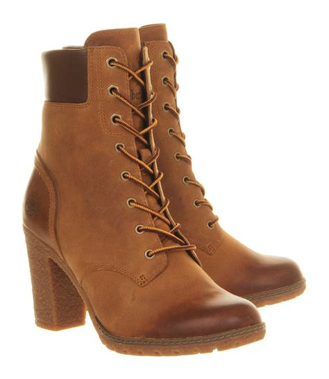heeled boots timberland glancy 6 inch heel boots in brown lyst