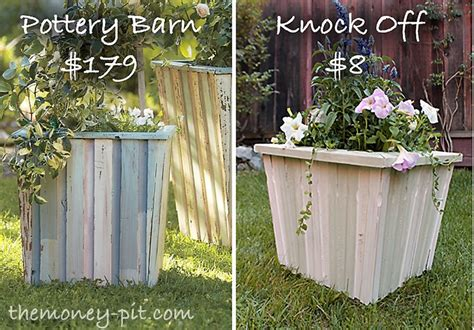 Pottery Barn Planters by Wood Planter Knock Diy Projects Wood