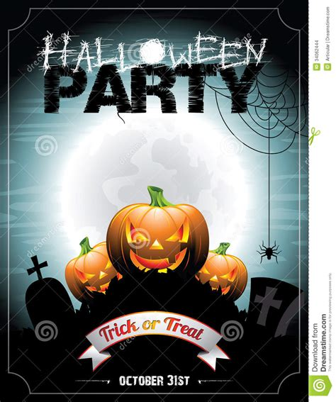 halloween themes vector vector illustration on a halloween party theme with