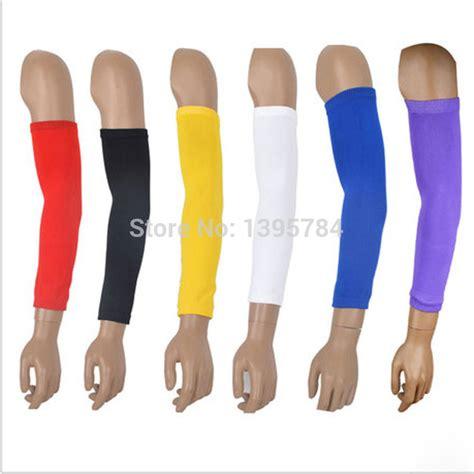 Promo Brace Arm 220 2pcs Terlaris 2pcs lot high elastic basketball arm sleeve armband soccer support brace
