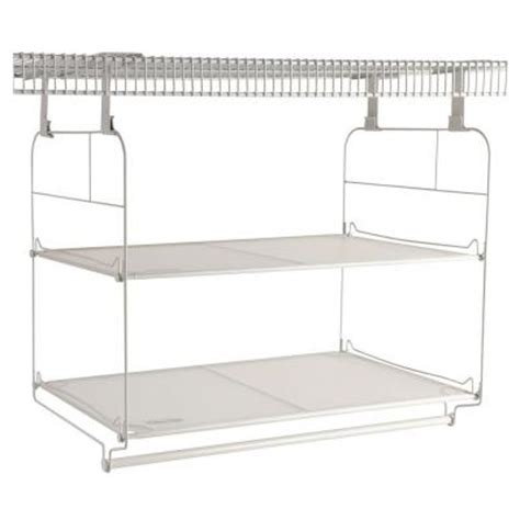 rubbermaid 23 in closet helper shelf and hang unit