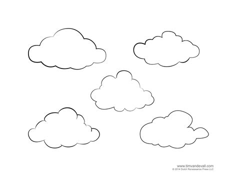 free coloring pages of cloud numbers