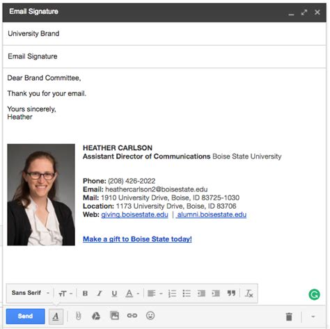 Email Signature Brand Standards Email Signature Template For College Student