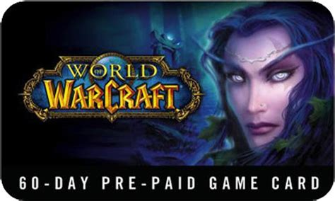 World Of Warcraft Gift Cards - world of warcraft game card 60 days eu gift