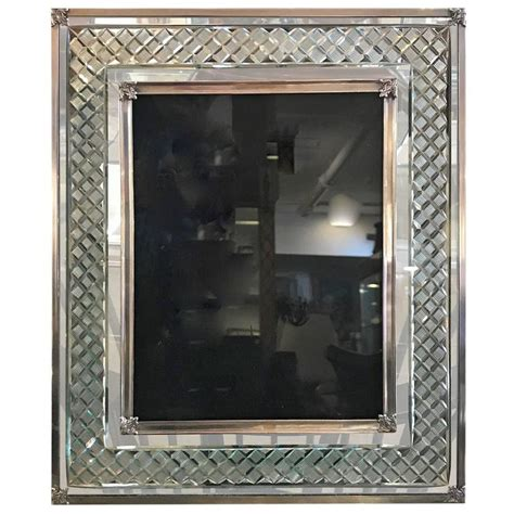 large sterling silver and cut glass picture frame at 1stdibs