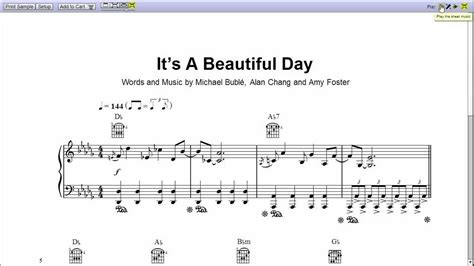 s day song jacksfilms michael buble s it s a beautiful day piano sheet