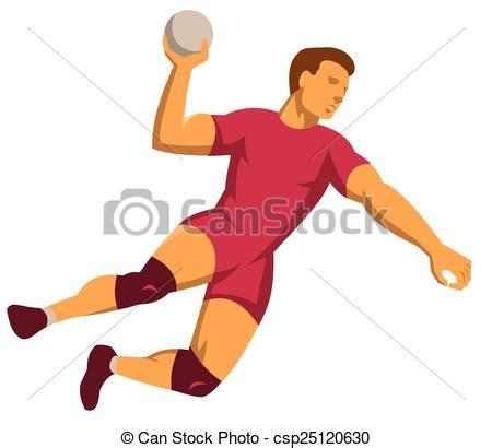 imagenes de niños jugando handball ベクター ハンドボール プレーヤー 跳躍 射撃 レトロ ストックイラスト ロイヤリティーフリー