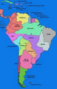 america map countries labeled map of south america in