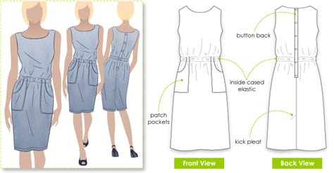 pattern review style arc stylearc peggy dress