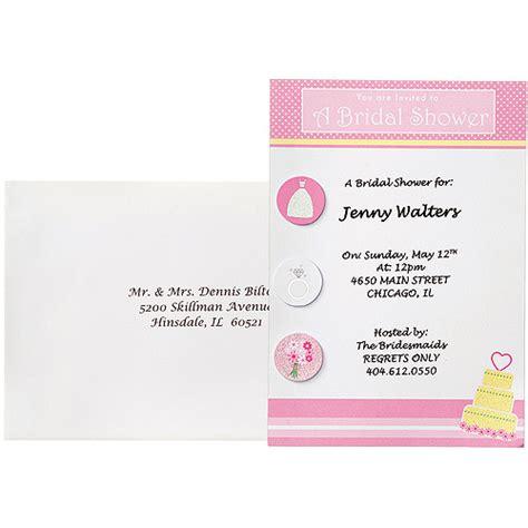 Bridal Shower Invitations Walmart wilton bridal shower invitation kit 12 ct 1008 1542