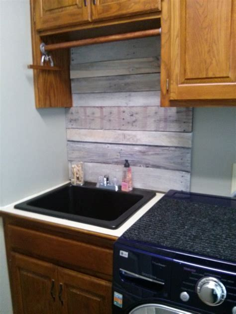 wood pallet backsplash wood pallets