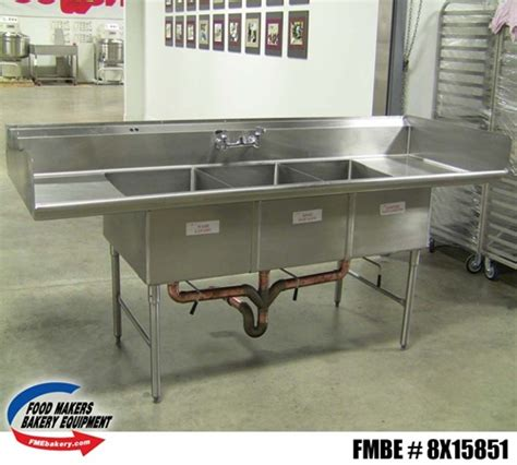 3 compartment sink for sale all stainless steel 3 compartment sink used