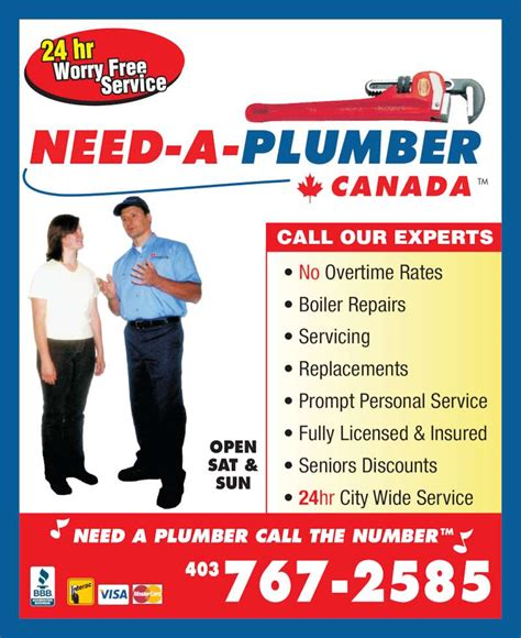 Need A Plumber Need A Plumber Canada Calgary Ab 10b 416 Meridian Rd