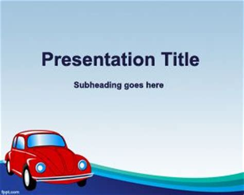 templates powerpoint cars free old car insurance powerpoint template