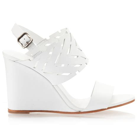 white wedge heel sandals images