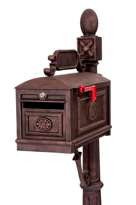 is iron better than bronze locking contemporary mailbox bronze aluminum lockable