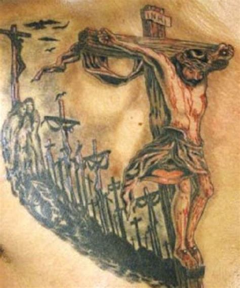 jesus christ on cross tattoos 25 s crucifix tattoos for believers crucifix