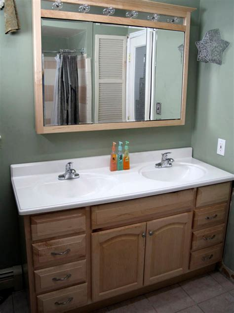 how to install bathroom vanity against wall installing a bathroom vanity hgtv