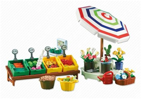 playmobil stall playmobil set 6335 fruit vegetable and flower stall