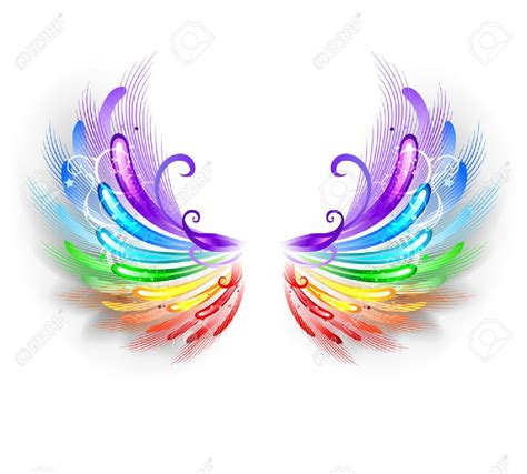 colored wings pretty wings of mine ideas rainbow