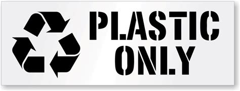 logo st for plastic plastic only stencil recycle dumpster stencils signs