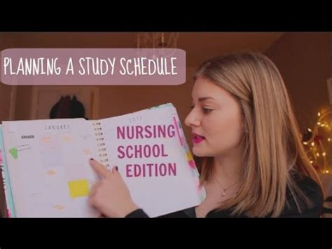 nursing school how how i plan my study schedule nursing school