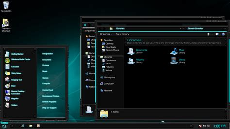 themes for windows 7 design tech light windows 7 theme by designfjotten on deviantart