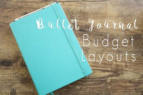 Home Layout Planner by Bullet Journal Budget Layouts The House Of Plaidfuzz