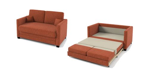 Two Seater Sofa Bed Boom 2 Seater Sofa Bed Orange Fabric