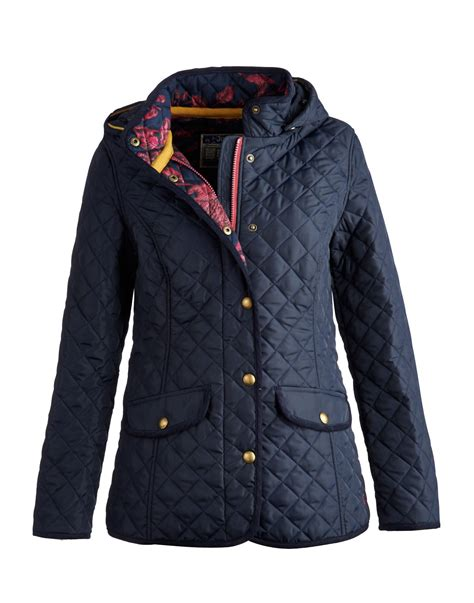 Navy Quilted Jacket Womens by Joules Clothing Town Country