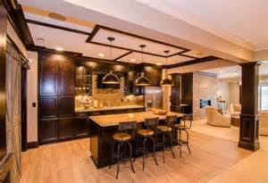 Wet Bar Blueprints Family Home With Open Floor Concept