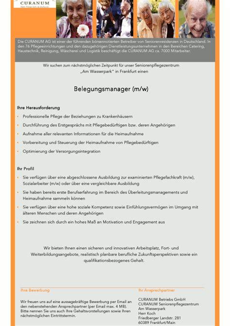 Bewerbung Deutschlandstipendium Frankfurt Belegungsmanager M W