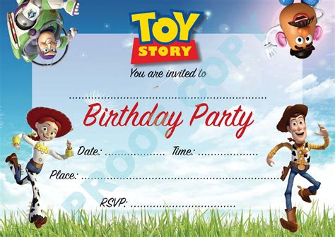 story birthday card template story buzz woody children birthday