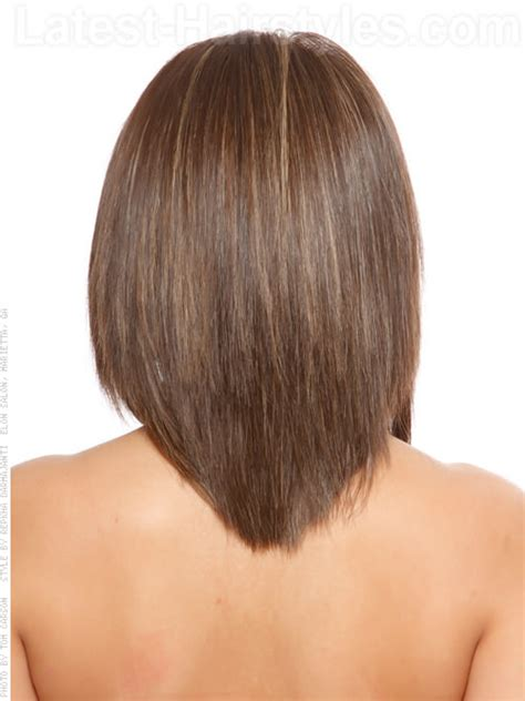 the back of sharon stines short bob hair tutorial v back stylish medium cut back view