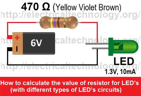 different types of resistors in a circuit how to calculate the value of resistor for led s with different types of led s circuits