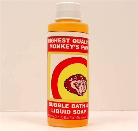bathtub liquid soap when you need fast luck you need the monkey paw bubble