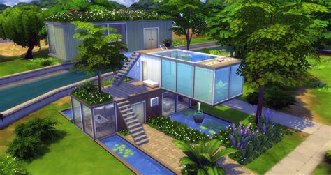 The Sims 4 Building Challenge: Container House   Sims Online
