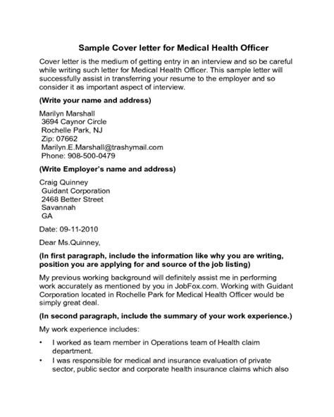 Health Officer Cover Letter by Health Officer Cover Letter Sle Edit Fill Sign Handypdf
