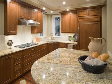 River Gold Granite Kitchen Countertops Design Ideas