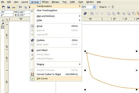 corel draw x5 join lines close path with straight or curvy lines coreldraw