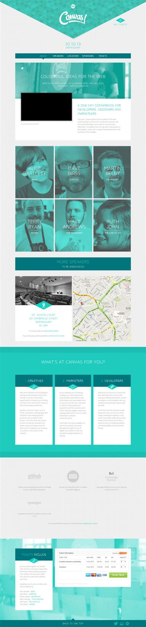 website design inspiration uk canvas conf 2013 webdesign inspiration www niceoneilike com
