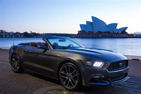 ford mustang in australia ford mustang convertible in australia the news wheel