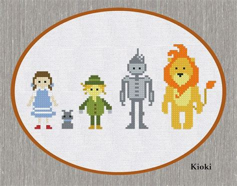 pattern wizard download cross stitch pattern wizard of oz instant download by