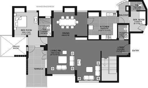 escape floor plan 3974 sq ft 4 bhk 5t apartment for sale in unitech escape sector 50 gurgaon