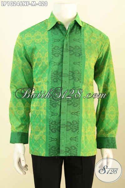 Baju Koko Warna Biru Lengan Panjang Model Busana Pria Muslim Samase model baju tenun elegan lengan panjang busana tenun istimewa warna hijau motif berkelas daleman