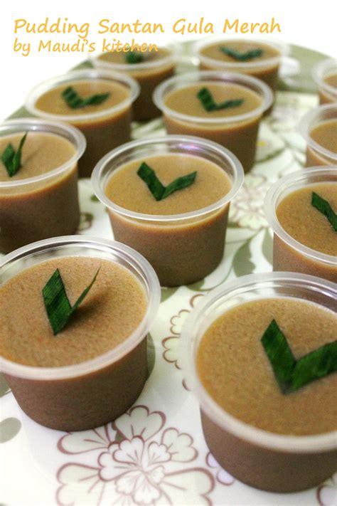 Pudding Santan Rasa Pandan 130g maudi s kitchen pudding santan gula merah