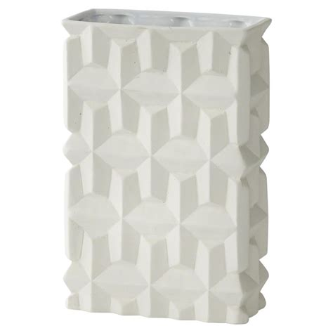modern matte white geometric texture rectangular porcelain